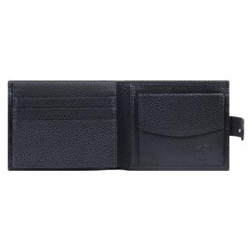 мужской кожаный кошелек (черный) 0-03FM кайман черный