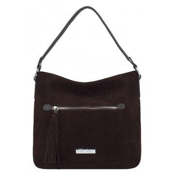 сумка женская из натуральной замши (коричневая)