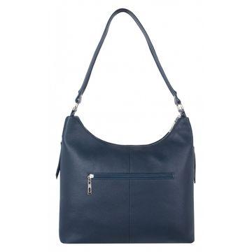 сумка женская из натуральной кожи (тёмно-синяя)
