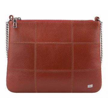 сумка женская из натуральной кожи (коралловая)