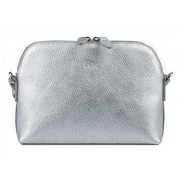 сумка женская из натуральной кожи (серебряная)