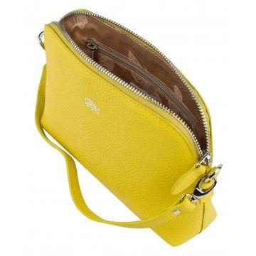 сумка женская из натуральной кожи (лимонная)