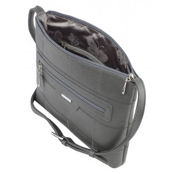 сумка женская через плечо кожаная (смок)