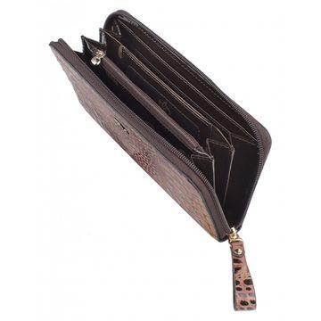 женский кошелек из натуральной кожи 0-753-1FMл кайман корич