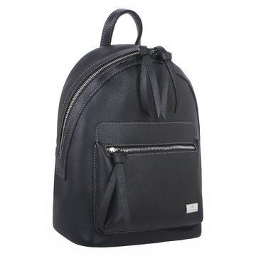 рюкзак женский из натуральной кожи (черный)