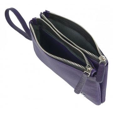 женский кошелек из натуральной кожи 0-757к-045 фиолет