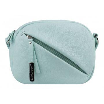 сумка женская из натуральной кожи (мятная)