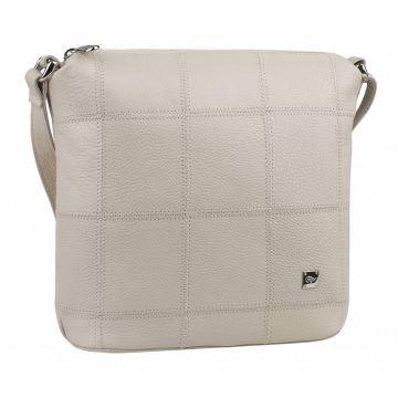 сумка женская из натуральной кожи (слоновая кость)