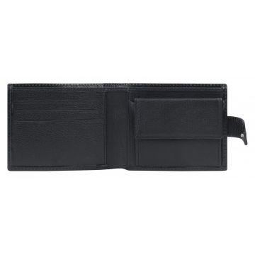 мужской кошелек из натуральной кожи 0-227В кайман чёр