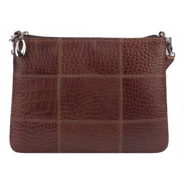 сумка женская кожаная (коричневая)