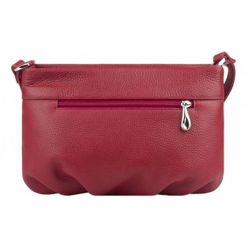 сумка женская кожаная (гранатовая)