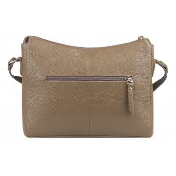 сумка женская из натуральной кожи (трюфель)