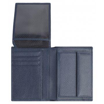 мужской кошелек из натуральной кожи 0-396FM фр синий