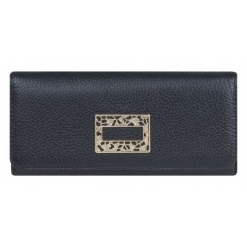 кошелёк женский на молнии из натуральной кожи 0-512С фр чёрный