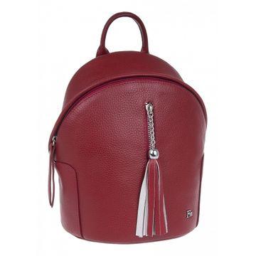 рюкзак женский из натуральной кожи (красный)