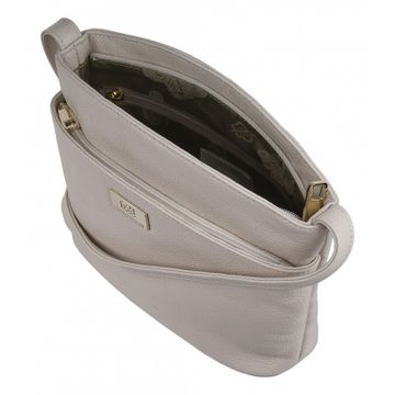 сумка-планшет женская из натуральной кожи (слоновая кость)
