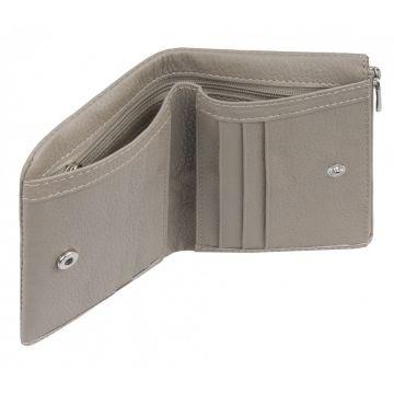 женский кожаный кошелек в сложение
