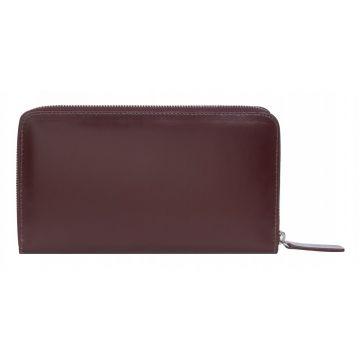 женский кожаный кошелек на молнии (бордовый) 0-750 бордо-мульти1
