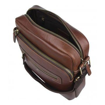 мужская сумка через плечо из натуральной кожи 2-873кВ небраска кор