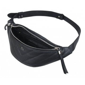 поясная сумка женская из натуральной кожи