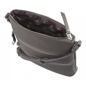 сумка женская через плечо кожаная (капучино)