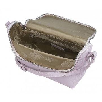 сумка женская через плечо кожаная (аметистовая)