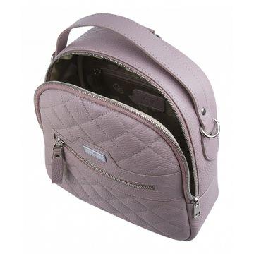рюкзак женский из натуральной кожи (жемчужный)