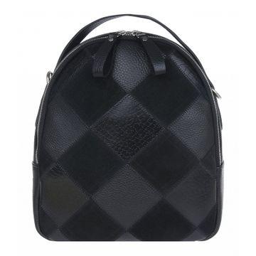 рюкзак женский из натуральной замши (черный)