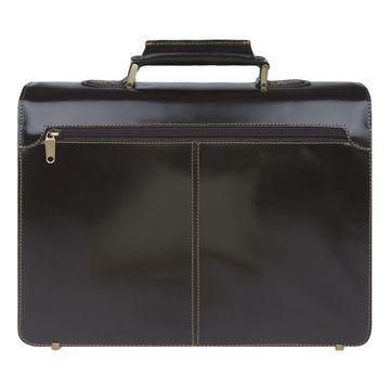 мужской деловой портфель из итальянской натуральной кожи (коричневый)
