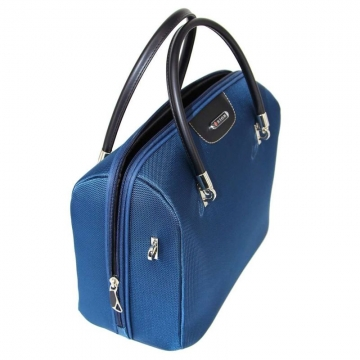 бьюти-кейс с плечевым ремнем (синий)