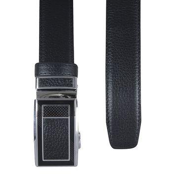 ремень для брюк с пряжкой автомат (черный)