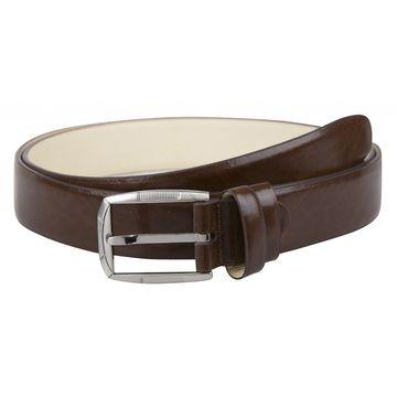 мужской ремень для брюк из натуральной кожи (коричневый)