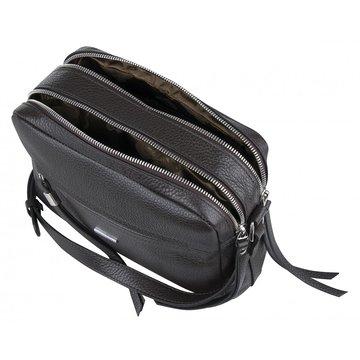 сумочка женская кожаная через плечо (коричневая)