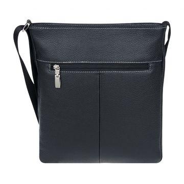 стильная мужская сумка-планшет на молнии из натуральной кожи