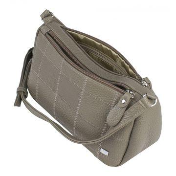 сумка женская кожаная через плечо (капучино)