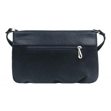 сумка женская замшевая через плечо (синяя)