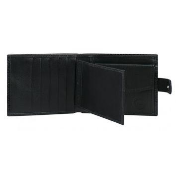 кошелёк мужской из натуральной кожи (чёрный)