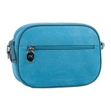 сумка женская из натуральной замши (голубая)