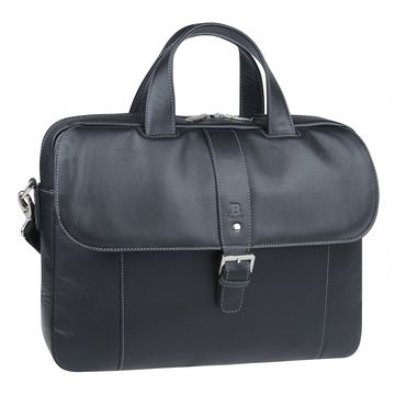 сумка мужская из натуральной кожи (чёрная)