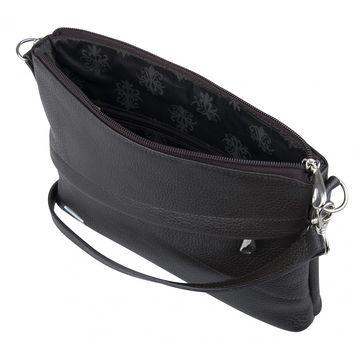 сумка женская кожаная через плечо (коричневая)