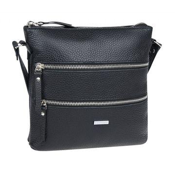 сумка женская из натуральной кожи (чёрная)