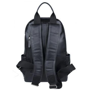 рюкзак мужской из натуральной кожи (чёрный)