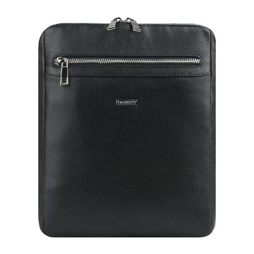 мужская сумка-планшет с молнией по периметру из натуральной кожи