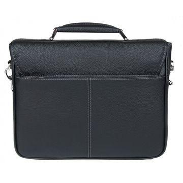 мужской деловой портфель из натуральной кожи (черный)