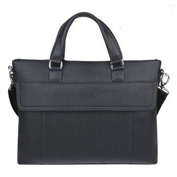 мужская сумка для документов с двумя ручками (черная)