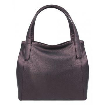 сумка женская из искусственной кожи (бордовая)