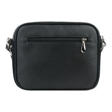 сумка женская замшевая на цепочке (чёрная)