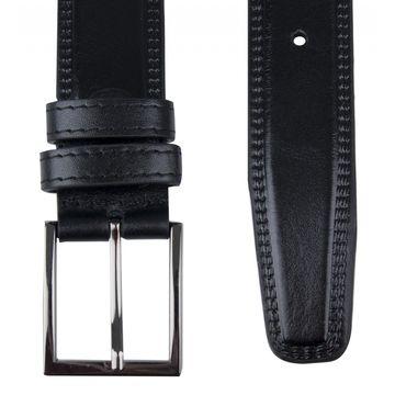 Мужской ремень кожаный черный