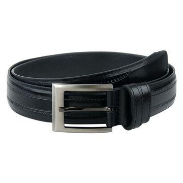 Мужской кожаный ремень для брюк (черный)