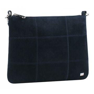 сумка женская из натуральной замши (синяя)